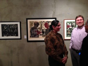 Steven Lopez and Eric Koehler at ArtZone 461 Gallery : Art Hazelwood and William Wolf Print show